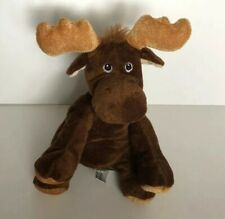 """Mary Meyer Plush Moose Brown 6"""" Soft Stuffed Animal Embroidered Maine Souvenir"""