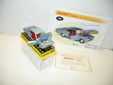 DINKY TOYS, opel rekord COUPE bleue, dinky atlas ref 1405