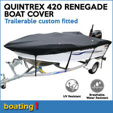 Quintrex 420 RENEGADE Trailerable custom fitted boat cover open boat black