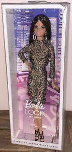 The Barbie Look City Shine -Black Label-Brunette Damaged Box