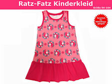 Ratz-Fatz Kinderkleid nähen, Schnittmuster und Nähanleitung