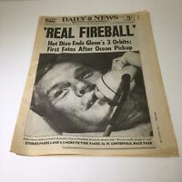 NY Daily News: Feb 21 1962 Hot Dive End's John Glenn's 3 Orbits