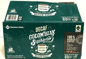 Member's Mark Decaf Colombia Med Roast Arabica Coffee Keurig, 74 K-Cup Pods NOB