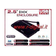 BOX ESTERNO CASE SATA OEM 2.5 POLLICI USB 2.0/3.0 HD HARD DISK ALLOGGIO CAVO