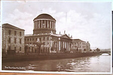 Irish RPPC Postcard DUBLIN Ireland FOUR COURTS River Liffey 1931 Philco