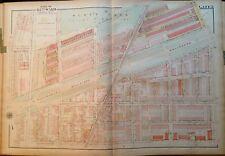 1923 G.W. BROMLEY PHILADELPHIA PA FELTONVILLE SCHOOL OLNEY PARK COPY ATLAS MAP