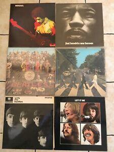 Rare 6 x vinyl bundle - Beatles & Jimi Hendrix - 99p start! L@@K..!