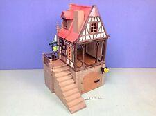 (O3448.5) playmobil maison auberge chateau médiéval 3666 3450 3448 3447