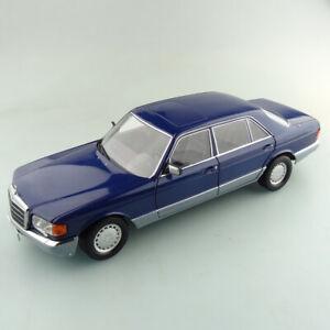 Norev 1/18 Mercedes Benz 560 SEL blau metallic neuwertig ohne OVP #743