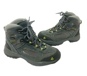 Vasque Ultra Dry Gray Leather Hiking Trail Outdoor Boots 7213M Boy Girl Size 2