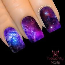 GALAXY CELESTIAL Accent Full Cover Nail Water Transfer Decal Sticker Art Tattoo