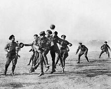"WW1 The Christmas Truce Football Game between troops 8""x10"" World War I  Photo 1"