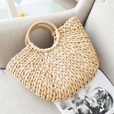 Women Wicker Handbag Bags Totes Beach Straw Woven Summer Rattan Basket Bag