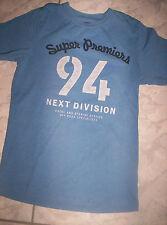 "Cooles ""H&M"" T-Shirt, blau mit Motiv, Baumwolle, Gr. 134/140"