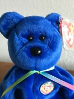 1998 CLUBBY III the Blue Club Bear Ty Beanie Baby – MWMT, GREAT Condition & RARE