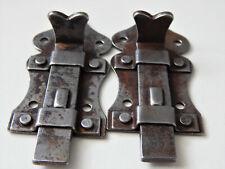 7cm Lot de 2 anciens Loquet, Verrou coulissant,Targette,Porte, Meuble ou autre