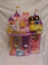 Disney Princess Royal Castle Dollhouse + Princess Dolls + Accessories