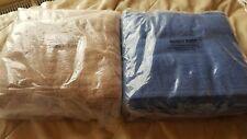 New Kingsley 4 Extra Large Bath Sheet Towels 180x90cm 100% Cotton beige blue.