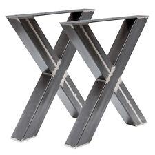 Tischgestell Rohstahl TUX 306 Tischuntergestell X Kreuz Esstisch Schreibtisch