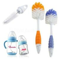 2 in 1 Baby Milk Bottle Cleaning Brush Nipple Feeder Teapot Nozzle Spou