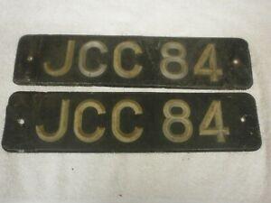 2X GREAT BRITAIN WALES CARMARTHENSHIRE VINTAGE 1940s # JCC 84 LICENSE PLATES