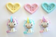Unicorn Love / Dress It Up Jesse James Buttons / Unicorn & Glitter Hearts