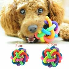 5.5cm Dog Puppy Toy Pet Bell Sound Ball Rainbow Colorful Rubber plastic Playing