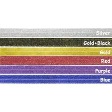 "12 Yard 5/8"" Glitter Fold Over Elastics FOE Spandex Band Tutu Dress Sewing Trims"