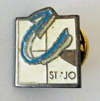 St Jo Brand Badge Pin France Rare Vintage Some Enamel Wear (G4)
