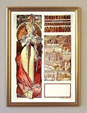 ALFONS MUCHA ÖSTERREICH AUF DER WELTAUSSTELLUNG PARIS 1900 FAKSIMILE 8 im Rahmen