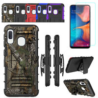 For Samsung Galaxy A10e Case Holster Kickstand Belt Clip Cover +Screen Protector