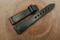 19mm/16mm Black Genuine Shell Cordovan Leather Watch Strap Band Handmade