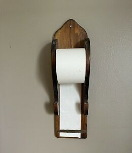 Vintage Wood Message Note Board Memo With Paper Roll Pen Or Pencil Holder