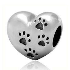 CHARM BEAD 925 My Pet Sweet Silver Paw Pandora Sterling Authentic Print Love