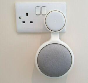 Socket Wall Mount for Google Home / Nest Mini Holder Stand for UK Power Adaptor