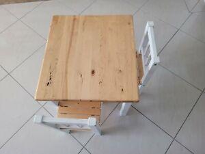 Kids Furniture Kinderzimmer Set 1Tisch  2Stühle  weiß-natur Holz
