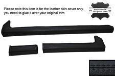 Negro Stitch 3x Dash Dashboard Ribete Cuero Skin cubre se adapta a Alfa Romeo Gtv GTV6
