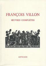 EO N° FRANÇOIS VILLON + JEAN PEYRE + MAURICE ALLEM : OEUVRES COMPLÈTES
