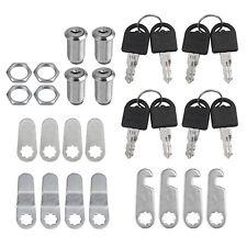 4pcs 30mm Keyed Cylinder Cam Locks Tool Box File Cabinet Desk Drawer With 8 Keys
