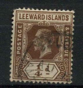 Leeward Islands 1912-22 KGV SG#46, 1/4d Brown Used #A70655