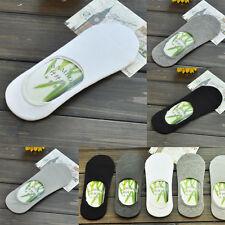 Lot 10 Pairs Men Soft Bamboo Fiber Breathable Boat Liner Low Cut Anti-Slip Socks