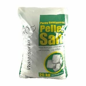 Watersprite Salt Pellets 1 x 25kg Bag, for all water softeners using Tablet Salt
