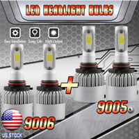9005 9006 Combo LED Headlight Kit Hi/Low Beam for Jeep Grand Cherokee 2005-2010