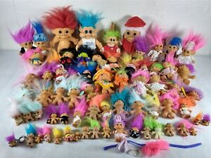Vintage Russ Troll Doll Collection ~ Christmas ~ Halloween ~ Witch ~ 71 Dolls
