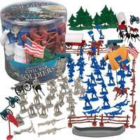 Civil War Army Men Action Figures - Big Bucket of Soldiers - Over 100 Piece Set
