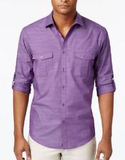 Alfani Men's Long Sleeve Warren Shirt, Majesty, Size L, MSRP $55
