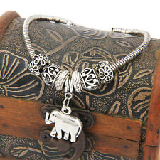 Elephant Animal Antique Bead Bracelets Pendant Women Men Jewelry Bangles Gifts