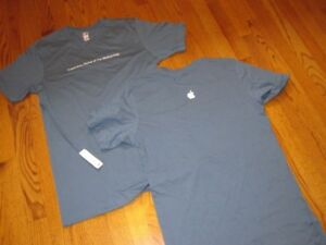 APPLE logo HOME of the MOTHERSHIP T-SHIRT Blue Medium MD NEW w/o TAGS NWOT tee M