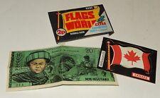 Ancienne Pochette FLAGS of the world A&BC - BUBBLE GUM : Drapeau CANADA + Billet