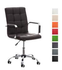 Chaise de bureau vertes en cuir pour la maison